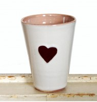 Herzbecher rosa